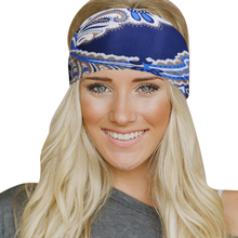 Womens Stretch Printing Headband Hairband Turban Bohemian Style Elastic Scarf Head Wrap Headpiece Bandage Girls Hair Accessories