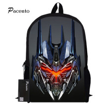 Transformers Printing Orthopedic School Backpacks Optimus Prime Bumblebee Waterproof Laptop School Bag for Boys Mochila Escolar