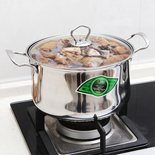 Luxury European style big pot, stainless steel double bottom pot 26cm