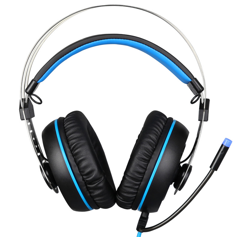 Sades A7 USB Gaming Headset Headphones 7.1 Stereo Surround Sound Earphone Game Headphone with Microphone Led for PC Laptop Gamer (4)