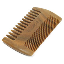 New Professional Natural Top Sandalwood Comb Anti-Static High Quality Handmade Pockets Mustache Two Sides Combs Hair Brush