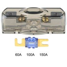 1 pc New Cars Stereo Seats Transparent Insurance Voltage Display Durable Fuse Holder Gold VEH21 P 50(China)