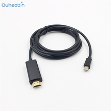 Ouhaobin Mini DP For HDMI Adapter Male To Adapter For Macbook Pro For Air to For Mac TV Black Mini DP To HDMI Cables Sep21(China)