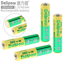 Delipow 4pcs AAA 1.2V 380mAh High Energy Ni-Mh LSD Rechargeable Battery with Safety Relief Valve for Toys / Cameras / Headlamps