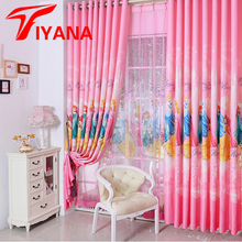 Korean Pink Color Dream Princess Design Cartoon Curtains For Kids Girls Living Room Bedroom Shade Curtain Custom Size #20