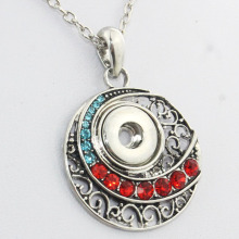 Boom Life necklace free chain Bohemian crystal 12mm snap button pendant watchs women button snap necklace accessories