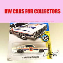 Toy cars 2016 Hot 1:64 cars Wheels 69h ford torino tallanega cars Models Metal Diecast Car Collection Toys Vehicle For Children
