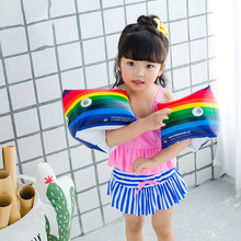 Newest  One Pair Children Swimming Sleeve Ring Inflatable Life Air Arm Floating Rings for Kids Adults Men Women
