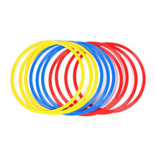 12 Pcs / Set 40cm Soccer Speed Agility Rings ABS Material Sensitive Football Training Equipment Pace Lap Football Ball Training
