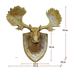 Wall Art Wildlife Animal  Deer Head  Decor Wall Sculptures for Living Room