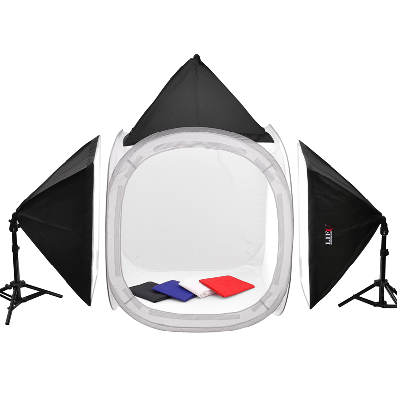 Adearstudio Photo Studio Portable Light Tent Kit 80cm Soft box Light Kit 80cm Studio photography CD50  sc 1 st  AliExpress.com : portable studio lighting kit - azcodes.com