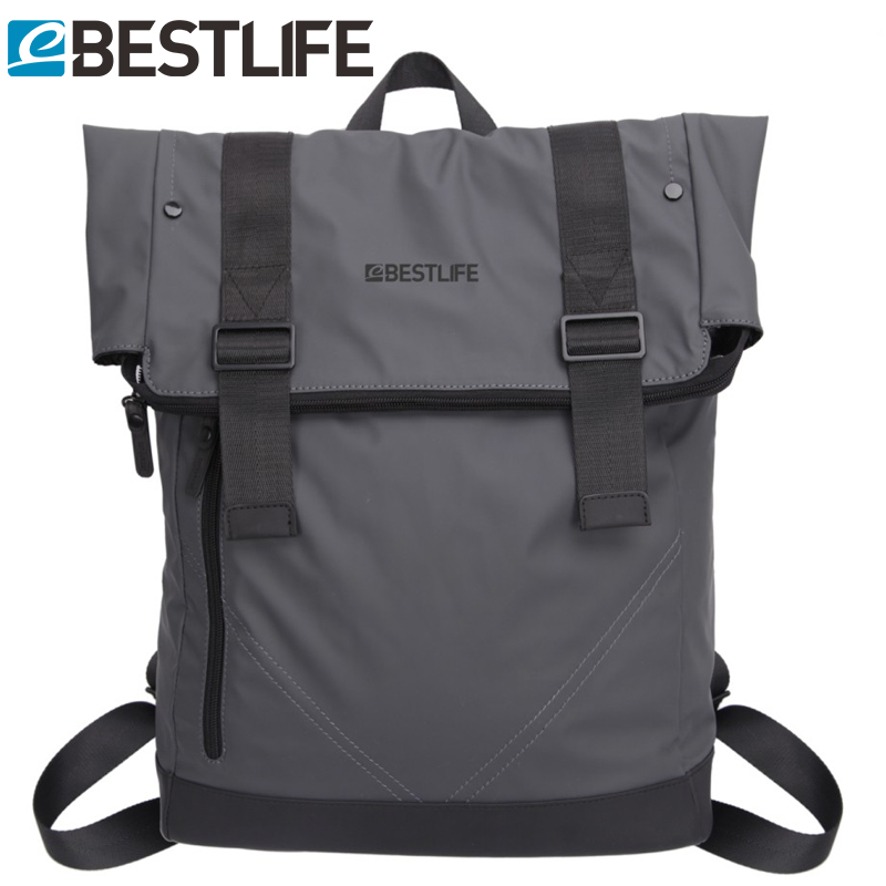BESTLIFE Male PU Leather Backpack Casual Soft Waterproof Flip Cover Travel Mochila Escolar Brand Men Laptop Sac A Dos Backpacks<br>