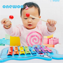 Children Early Education Music Instrument Toys Baby Cute Animal Wooden Hand Knocked Piano Kids Learning Education Musical Toys(China)