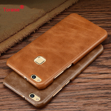 Huawei P10 Lite Case Genuine Leather Back Cover Case Vintage Leather PC Case For Huawei Nova Lite Moblie Phone Bag Coque Capa