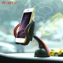 RAXFLY For iPhone 7 6 Universal Car Phone Holder GPS Car Holder Stand 360 Degree Rotating Flexible Navigating Socket Shockproof