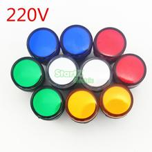 10PCS AC/DC 220V 22mm Thread LED for Electronic Indicator Signal Light Five color optional ,default red AD16-22(China)
