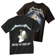Summer Style METALLICA T-shirt Music Hip Hop Rock Tops Tee Shirts Funny Heavy Cotton T Shirt For Men's Women's Tshirt S-3XL