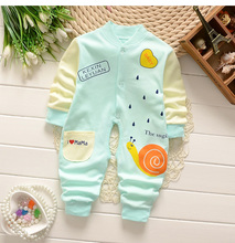 BibiCola 2017 Spring Newborn Baby Clothes Toldder Children Pajamas Long Sleeved Romper Jumpsuit Wear Baby clothes suit