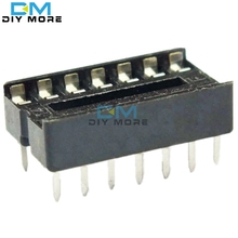 20pcs DIP 14 pins IC Socket Adaptor Adapter Solder Type Socket DIP-14 free shipping(China)