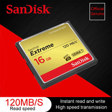 Sandisk Extreme Compact Flash Camera Memory Card 16 GB 32 GB 64 GB 128 GB Up to 120 MB / s Read Speed for 4 K and Full HD Video