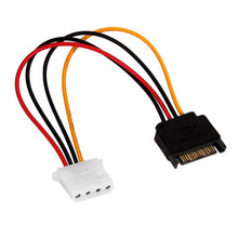 Advanced 2017 Computer Accessories New Serial ATA SATA 15 p to Hard Disk 4 p IDE Power supply Cable connector 20cm(China)
