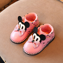 New style kids boots girls boots cute cartoon toddler girl boots kids warm cotton girls winter boots kids shoes girls shoes