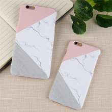 Hot sale!! decal Pattern Phone Case Cover for iPhone 6 plus 6s plus 7 plus Geometric case for iphone 6 6s Mosaic Marble Water(China)