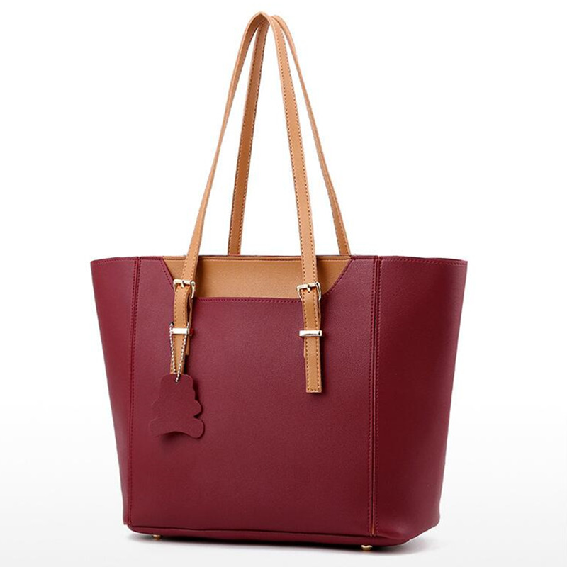 BARHEE Pu Leather Ladies Shoulder Bag Women Casual Bags Large Capacity Ladies Solid Bag Fashion Luxury Handbags Women Bag Design<br>