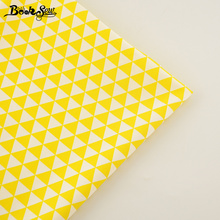 Booksew 100% Cotton Fabric Fabric Yellow Triangle Design Home Textile Bed Sheet Soft Cloth Quilting Tecido For Baby Beding Dolls