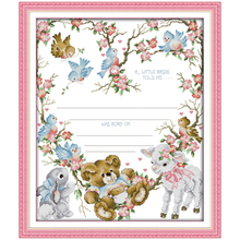 Birth Certificate (3) Counted Cross Stitch 11CT 14CT Cross Stitch DIY Cross Stitch Kits Embroidery for Home Decor Needlework(China)