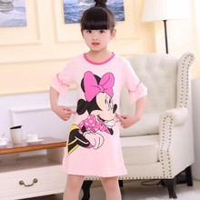 Buy Girls Nightdress New 2018 Summer Fashion Princess Cartoon Dresses Kids Sleep Dress Cotton Children Nightgowns Lovely Girl Gift for $4.73 in AliExpress store