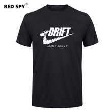 Buy Casual t shirt men car drift just Print tops funny Short sleeve t-shirt men Cotton tee shirt mens t shirts fashion 2017 for $6.70 in AliExpress store