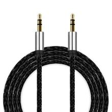 2017 3.5mm Auxiliary Cable Audio Cable Male To Male Flat Aux Cable 3m Phone to connect with audio device(China)