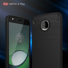 Latest Soft Carbon Fiber Bamboo Phone Cover Case For Motorola MOTO Z PLAY XT1635-03 Luxury Mobile Phone Bag For Moto Z Force(China)