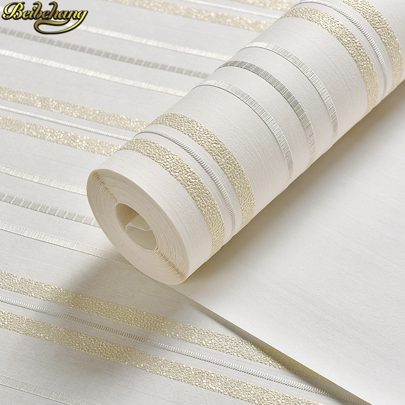 beibehang Simple modern vertical stripes solid Contact Paper papel de parede 3D Wallpaper for living room wall papers home decor<br>