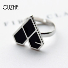 Star Jewelry New Design EXO Group LOGO Finger Ring Geometry Type For Women Party