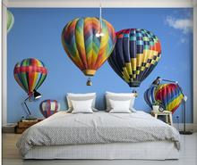 3d wallpaper for room Blue sky white sky hot air balloon TV wall mural 3d wallpaper classic wallpaper for walls(China)