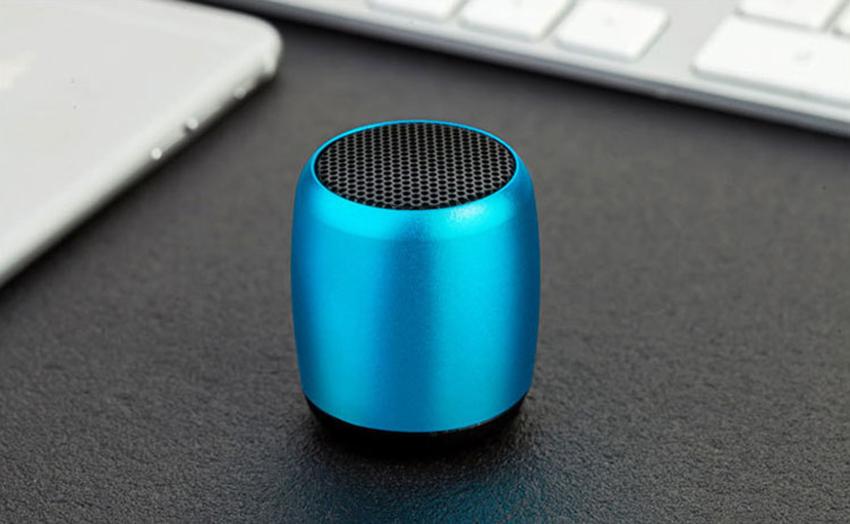 Aimitek Mini Wireless Speaker Small Pocket Size blue-8