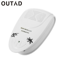 OUTAD Electronic Ultrasonic Indoor Anti Mosquito Insect Pest Killer Magnetic Repeller White Rodent Control US/EU Plug(China)