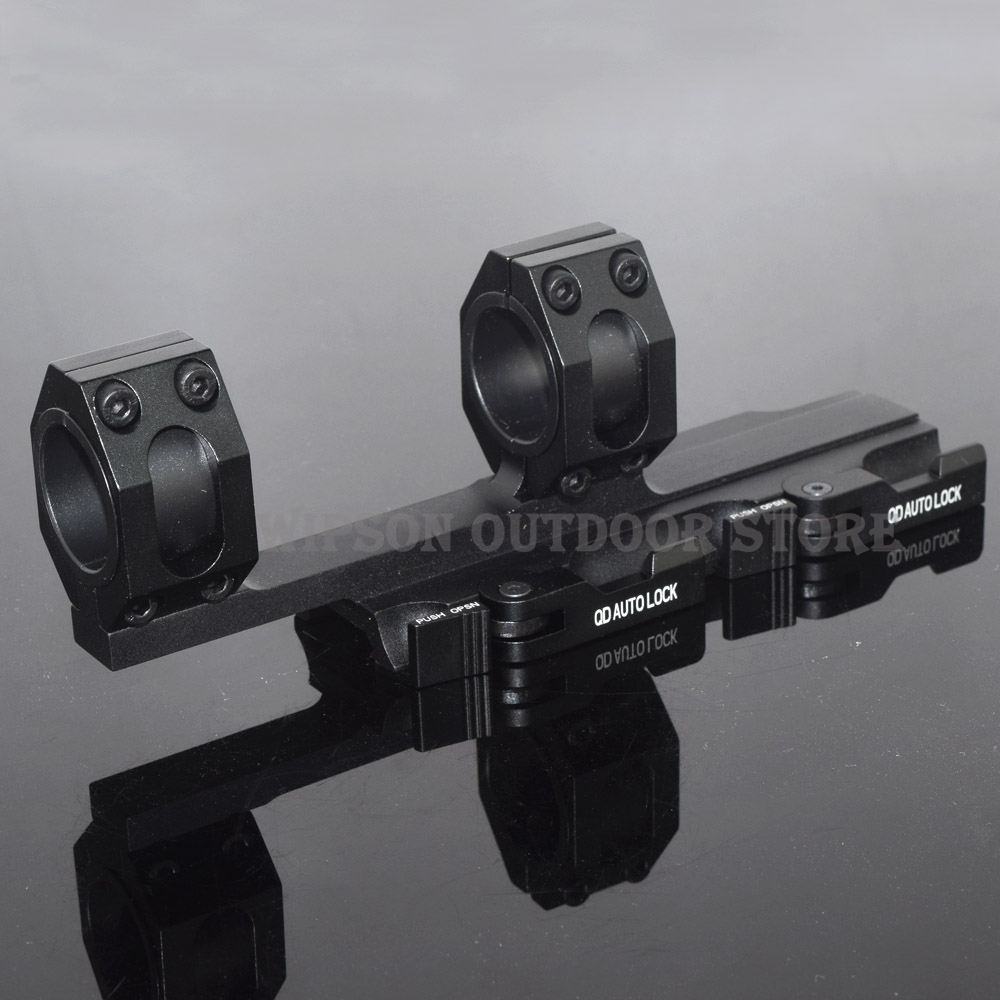 WIPSON Tactical Extend AR15 M4 M16 American Optics Defense Rifle Scope 1 30mm picatinny rail weaver Ring Mount<br>