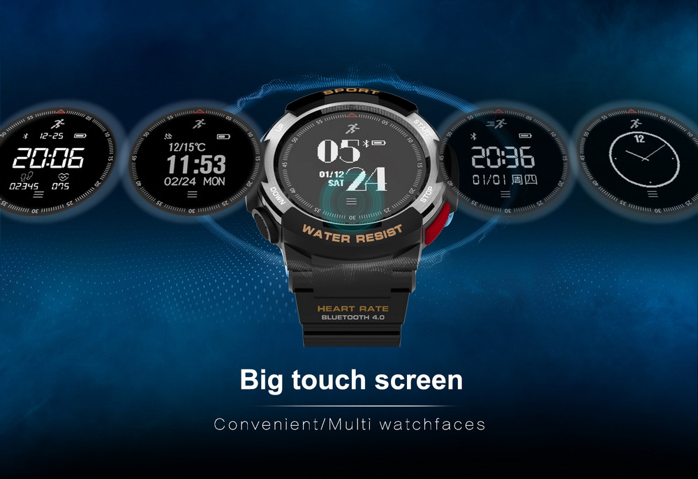DTNO.1 Smart Watches F6 50m Waterproof Smartwatches Sports Nordic NRF51822 Smart Watch Sleep Monitor Remote Camera IOS Android (6)