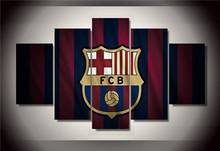Home Decor Canvas Painting 5Pcs Barcelona F C Football Team Poster Top-rated Wall Pictures For Living Room Art Modular Pictures