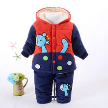 New Baby Boys Clothing Set Winter Warm Clothes Suit Giraffe Cotton Velvet Clothing Set Fashion Boy's Clothes Toddler 1-3 years