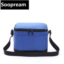 small cooler bag insulated cool handbags picnic ice pack thermo lunch box food milk fresh insulation bag(China)