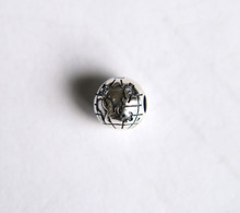 Original Globe Map Clip Stopper Charms  100% 925 Sterling Silver Charm Beads Fits European Charms Bracelet