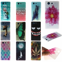 New Arrival Ultrathin Soft  Phone Case for Sony Xperia C3 C 1905 M2 M4 T3 Z3 Z3 Mini Z5 Mini XA E5   Silicone  10 styles