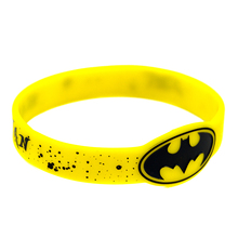 Promo Gift New Arrival 25PCS/Lot Batman Wrist Watch Shaped Silicone Wristband Adult Size