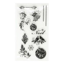 Noel Lace Bird Transparent Clear Silicone Stamp/seal for DIY Scrapbooking/photo Album Decorative Clear Stamp Sheets.