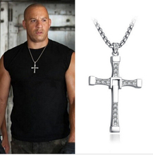100% High Quality The Fast and the Furious Celebrity Vin Diesel Item Crystal Jesus Cross Pendant Necklace for Men Gift Jewelry(China)