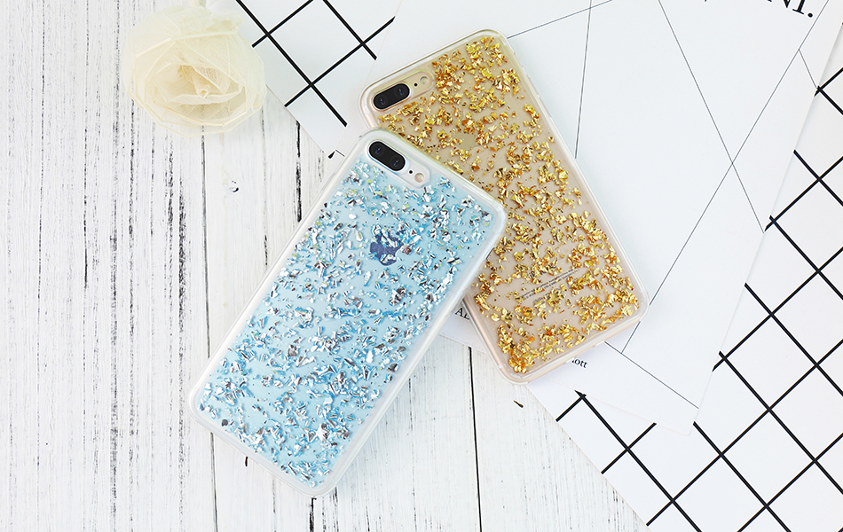 DOEES For iPhone 7 6 6S Plus 5 5S SE Case Luxury Cute Glitter Clear Case For Samsung Galaxy S8 Plus S7 S6 Edge S5 Note 7 5 Back Cover (10)